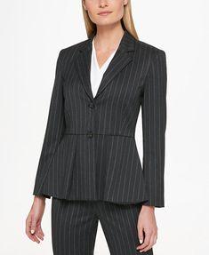 DKNY Peplum Blazer | macys.com