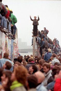 Berlijnse muur toen hij werd afgebroken