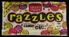 Image detail for -1985 Fleer Razzles Unopened Vintage Package Candy Gum 1980s Nostalgia ...