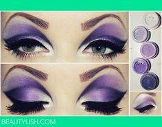 OMG AMAZING purple eye shadow!! <3