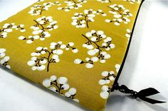 Laptop Case 15.6 Mustard Yellow Padded Laptop Sleeve with Zipper in Willow