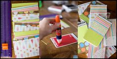 Crayons + Notebooks for kids at weddings or cookouts :)