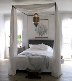 Allegra Iron Canopy Bed | All Beds | Restoration Hardware Baby ...