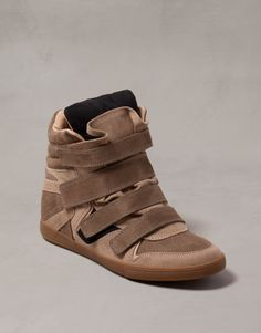 :SPORT WEDGE ANKLE BOOTS WITH VELCRO