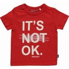Imps&Elfs T-shirt it's OK rood -60%