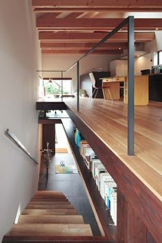 book shelves in between. perfect.