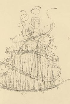 Marc Davis' stunning pencil animation for Disney's Cinderella This is often referred to as Walt Disney's favorite piece of animation. Test Disney, Disney Art, Disney Movies, Punk Disney, Disney Stuff, Disney Characters, Disney Sketches, Disney Drawings, Cartoon Drawings
