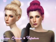 My Sims 4 Blog: Hair - Buns & Updos
