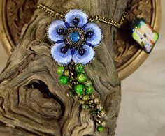 Hey, I found this really awesome Etsy listing at https://www.etsy.com/au/listing/260794051/boho-flower-pendant-embroidered-pendant
