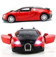 1:36 Scale Model Bugatti Veyron Diecast Car Model With Sound&Light  Collection Car Toys Vehicle Gift