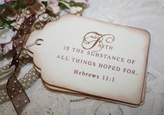 Gift Tags Scripture Verses Vintage Inspired by ShabbyPeaDesigns