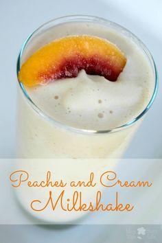 Peaches and Cream Milkshake #ILoveSilkSoy