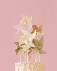 Pinwheel Wedding Cake Topper: Martha Stewart Weddings