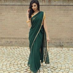 Are you researching for the best quality Elegant Design Indian Sari also items such as Elegant Saree also Latest Elegant Designer Sari Blouse if so then CLICK Visit link for Indian Dresses, Indian Outfits, Sari Dress, Sari Blouse, Modern Saree, Indian Fashion Trends, Plain Saree, Simple Sarees, Saree Trends