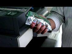 របៀបបញ្ចូលទឹកថ្នាំម៉ាស៊ីនកូពីគូល័រ - How to fill-full ink of  Konica C4...