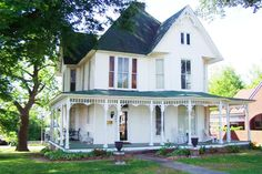 Beautiful Victorian home, built about 1895. Spacious rooms, wood floors, pocket doors, transoms, magnificent staircase, crafted wood work, wrap around front porch. 2nd story w/screened sleeping porch.