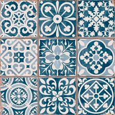 Azulejos Portugueses click now for info. Tile Patterns, Print Patterns, Tile Design, Pattern Design, Deco Design, Blue Tiles, White Tiles, Wall And Floor Tiles, Bathroom Wall Tiles