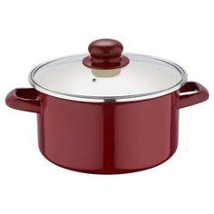 Hrniec+pokrievka 3l 20x11,5cm BLAUMANN. Smaltovaný hrniec Kaiserhoff s pokrievkou do každej tradičnej kuchyne. Milá dekorácia jahôd vám zlepší náladu pri varení či už mäsa, cestovín alebo omáčok. Rozmery: 22x11 cm, objem hrnca 4 litrov.