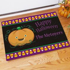 Halloween Pumpkin Welcome Mat | Bellas Personal Gifts