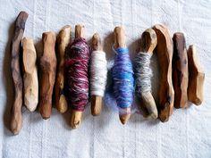 Natural bobbins... kinda cute, especially if you make your own yarn. All natural baby!!!