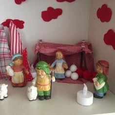 NAVIDAD EN ROJO – nacimiento con adornos de tela  #navidad #rojo #deco #christmas #christmasdeco #letsdiy #nacimiento #portaldebelen