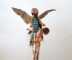 gerard collas, assemblages, sculpture, velo