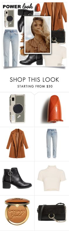 """GIRL POWER: Power Look"" by jane-cupacake ❤ liked on Polyvore featuring Kate Spade, Shiseido, Vetements, Staud, Too Faced Cosmetics, Chloé, girlpower and powerlook"