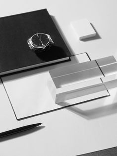 Stationery. Black and white still life photography for Capco New York. Watch