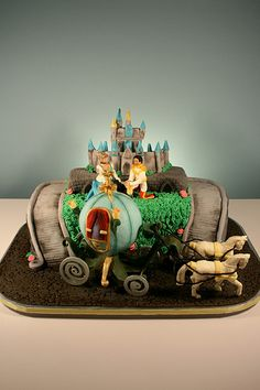 Cinderella 25th Wedding Anniversary Cake (by marksl110)