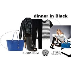 """Dinner in Black"" by aura-aureta on Polyvore"