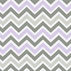 Lilac and Slate Gray Crib Bedding contemporary-fabric