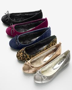 OMG - fur lined flats - I have to go try these on for my neuropathy. OMG OMG OMG. IT WOULD BE SO COOL TO WEAR PRETTY SHOES AGAIN!!!