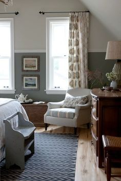 two tone walls design ideas pictures remodel and decor - Slate Gray Living Room Ideas