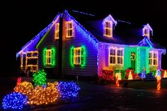 windows with christmas lights | Christmas Light Installation