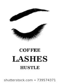 Hand-drawn woman's moder fresh idea logo- perfectly perfectly shaped eyebrows and extra full lashes. Idea for business visit card, typography vector.Perfect salon look Perfect Eyebrow Shape, Perfect Eyebrows, Eyebrows Sketch, Afro, Cute Bun Hairstyles, Perfect Red Lips, Cute Buns, Lip Shapes, Natural Eyebrows