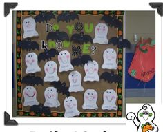 First Grade Blue Skies: A Bat, A Ghost, and A Bulletin Board