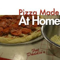 Use the tools to make a pizzeria style pizza at home