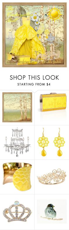 """""""Journi's Cinderyellow Ball Storybook Outfit"""" by carmen-ireland ❤ liked on Polyvore featuring Big Fish, OKA, Anya Hindmarch, Universal Lighting and Decor, Tità Bijoux, UNEARTHED, Jon Richard and WALL"""