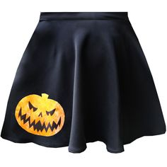 Limited Edition Hallowe'en Appliqu Skater Skirts With Pockets (£39) ❤ liked on Polyvore featuring skirts, flared pencil skirt, black skater skirt, black knee length skirt, skater skirt and black skirt