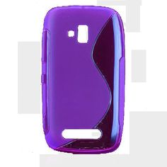 S-Line Transparent (Lilla) Nokia Lumia 610 Deksel