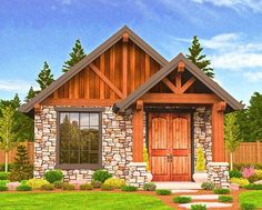 Rustic Guest Cottage or Vacation Getaway - 85106MS | Architectural Designs - House Plans