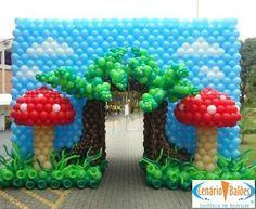 Fotos - Alice no Pais ...- Cenário Balões - Excelência em Decoração