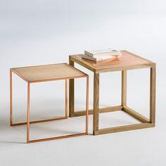 Nest of 2 Elori Oak/Copper Occasional Tables La Redoute Interieurs | La Redoute Mobile