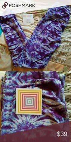 e0ca761893a9d BNWT LuLaRoe OS Tie Dye HTF Leggings BRAND NEW!!! LuLaRoe Purple Tie Dye
