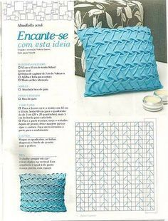 46 ideas embroidery pillow fabric manipulation for 2019 Smocking Tutorial, Smocking Patterns, Fabric Patterns, Sewing Patterns, Diy Tutorial, Smocking Baby, Skirt Patterns, Coat Patterns, Blouse Patterns