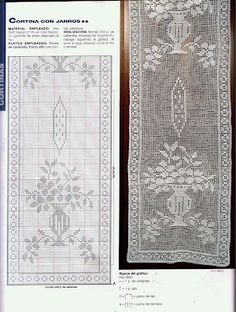 Filet curtain with diagram