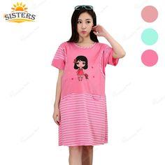 ac3baf84273ff Maternity Women's Jersey Dress Pyjama Breastfeeding Nightwear Pregnant Top  Clothes for pregnant Women Pregnancy Dress Nursing