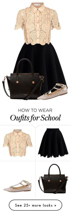 """""""Old school"""" by tigerlily789 on Polyvore featuring Chicwish, self-portrait and Ted Baker"""