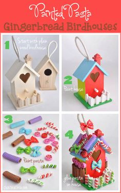 Faux Gingerbread Houses No Messy Royal Icing! Really Clever Way