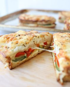Make a meatless version of the classic croque monsieur. This sandwich features roasted vegetables in place of the ham, and it is DELICIOUS! Baked Sandwiches, Sandwich Recipes, Veggie Recipes, Lunch Recipes, Vegetarian Cheese, Vegan Vegetarian, Vegetarian Recipes, Healthy Recipes, Healthy Foods